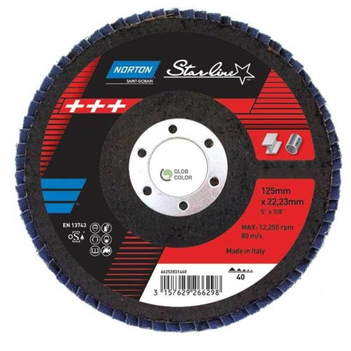 amelasti brusni disk - kosi R82B 125x22 P40 STARLINE